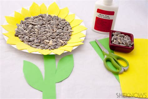 sunflower paper plate craft sunflower crafts for to make crafty morning