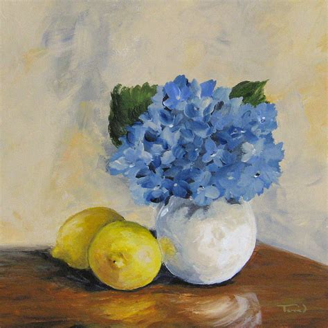 acrylic painting hydrangeas lemons with hydrangea by torrie smiley