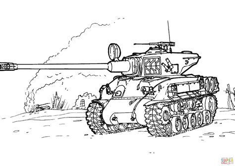 army cif picture book sherman m 51 tank coloring page free printable coloring