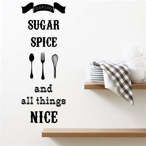 sticker wall quotes all things kitchen wall sticker quote wall chimp uk