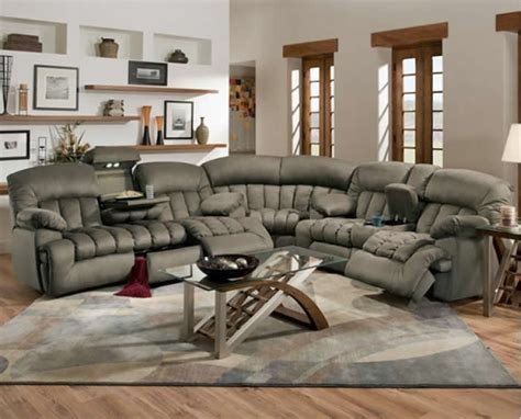 sectional sofa with recliners plushemisphere sectional sofas with recliners for