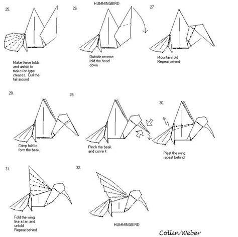 origami blueprints hummingbird origami plan 4 collin weber