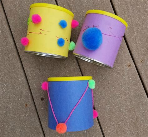 drum crafts for recycled canister toddler drum craft suite