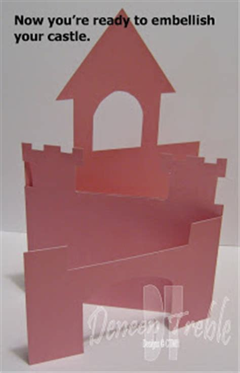 how to make a card castle a path of paper castle card template