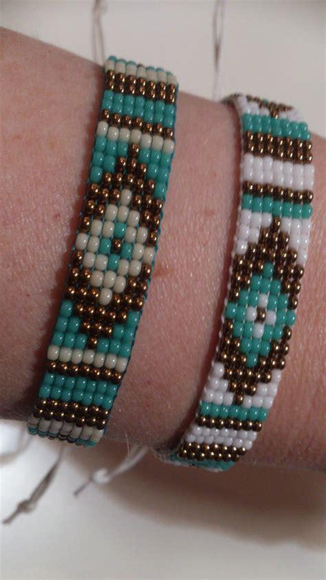 beaded bracelets etsy items similar to loom beaded bracelet with waxed cord on etsy