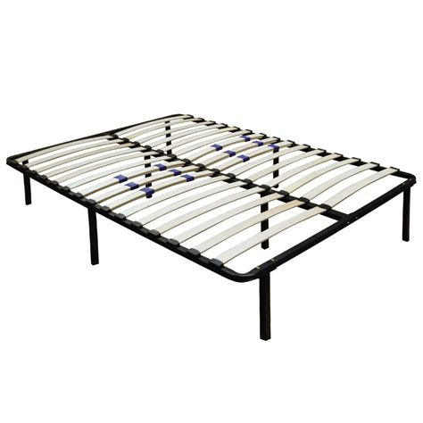 bed frames slats metal platform bed frame wood slats size king