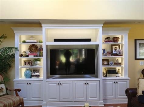 Ideas For Bathroom Vanities And Cabinets white entertainment center traditional family room