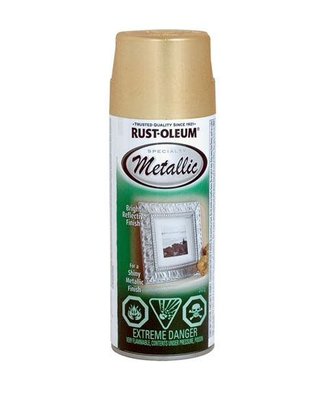 home depot paint rust rust oleum specialty metallic finish gold 312g aerosol
