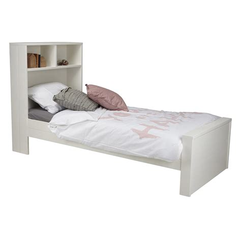 or single bed max contemporary white single bed with headboard storage