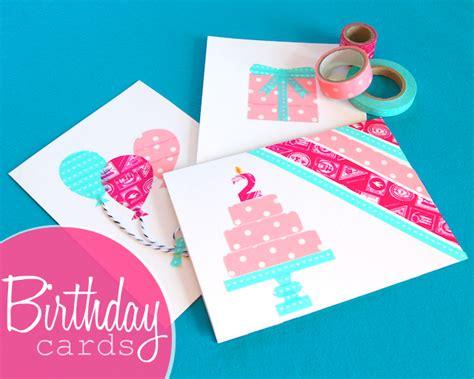 how to make birthday greeting cards omiyage blogs diy washi birthday cards