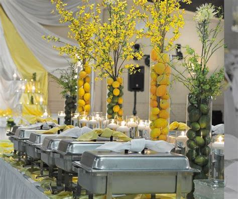 buffet table decorations 355 best images about lemon lime on yellow