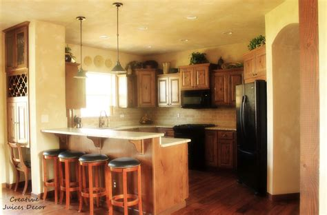 top kitchen cabinets creative juices decor decorating the top of your kitchen