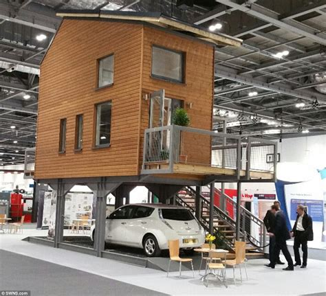 tiny house on stilts architect bill dunster designs tiny flats to stand on