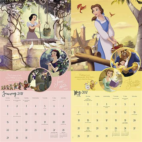 2018 disney princess wall calendar mead disney printable calendars 2016 calendar template 2016