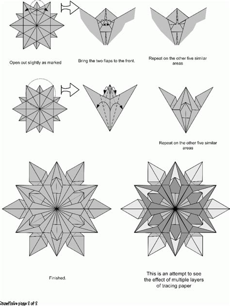 snow origami snow flakes origami paper origami guide