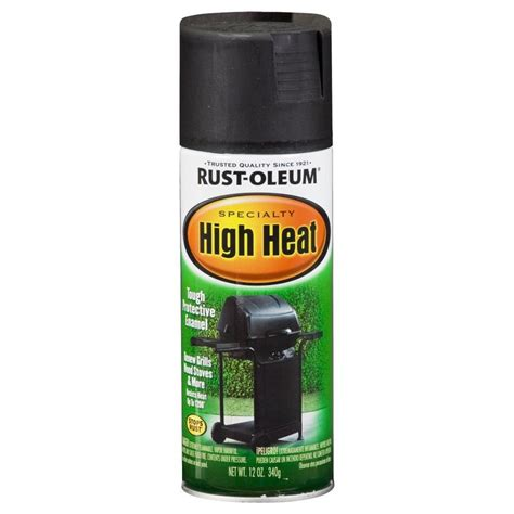 home depot heat resistant paint shop rust oleum high heat specialty high heat black rust