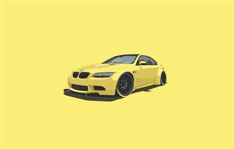 Car Wallpaper Ru by обои Yellow Minimalistic Bmw Car картинки на рабочий