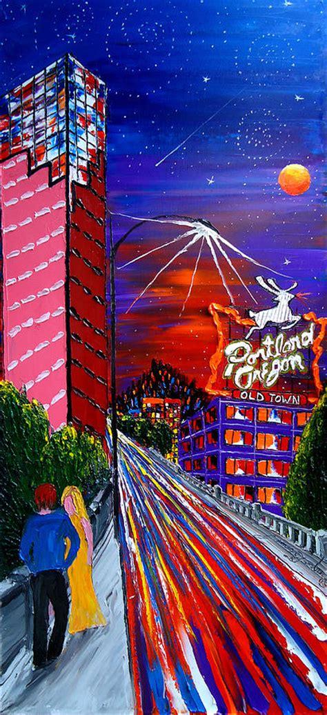 paint nite portland oregon portland starry city lights 53 painting by portland