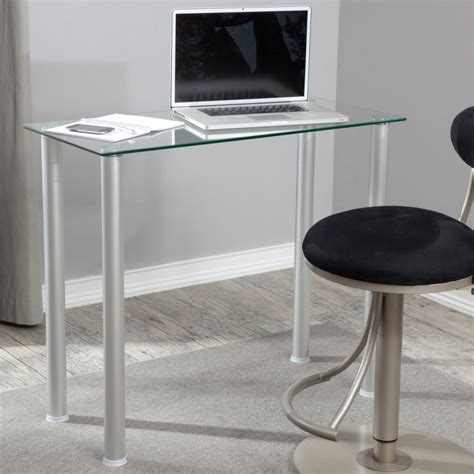 small glass top desk make the small office desk as superb as you want midcityeast