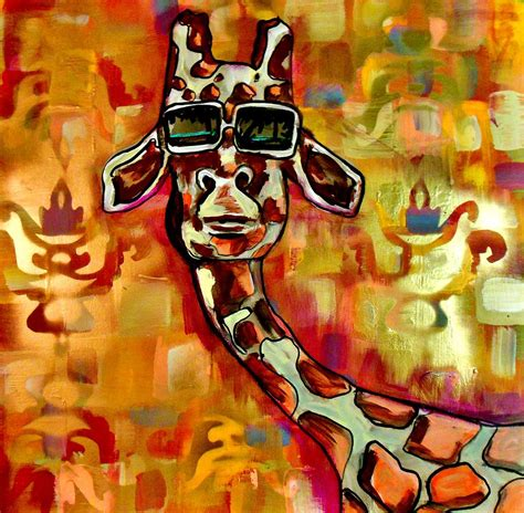 cool painting images cool giraffe painting by clayton