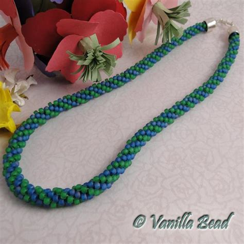 beaded kumihimo necklace patterns beaded kumihimo by vanilla bead craftsy