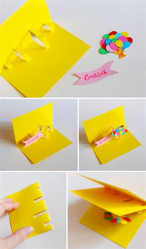 how to make a simple pop up birthday card diy pop up cards