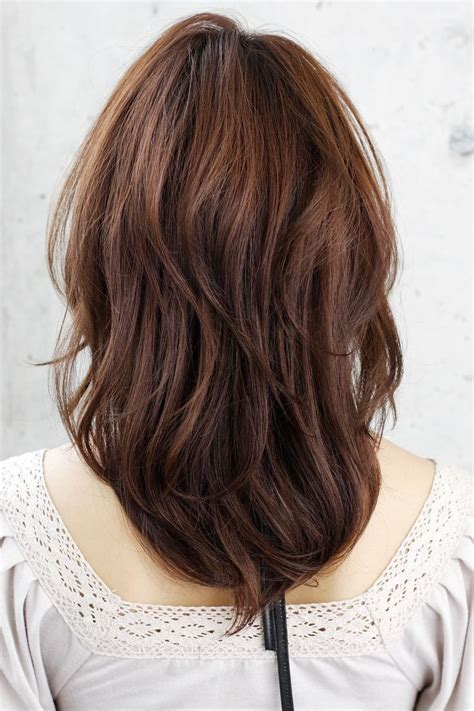 pictures of the back of shoulder lenth hair shoulder length layered haircuts back view women hair libs
