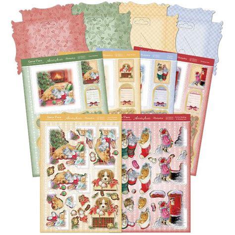 decoupage kit a4 decoupage kit santa paws premium card kit decoupage