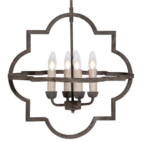 rusted chandelier athena country quatrefoil rusted iron
