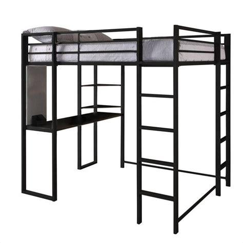 black loft bed dhp abode size metal loft bed black ebay