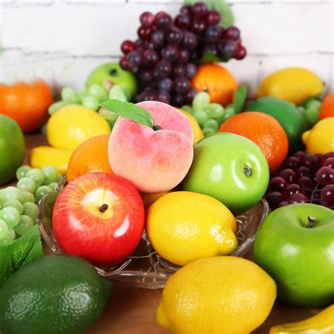fruit plastic decorative artificial fruits and vegetables model foam