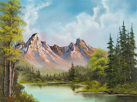 bob ross painting in bob ross crimson mountains painting bob ross crimson