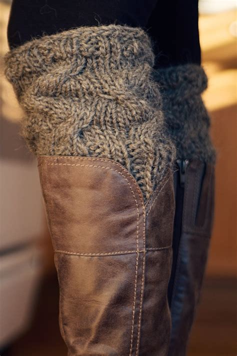 cable knit boot cuffs pattern pdf file knitting pattern to knit your own boot cuffs