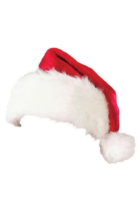 santa and hats deluxe plush santa hat