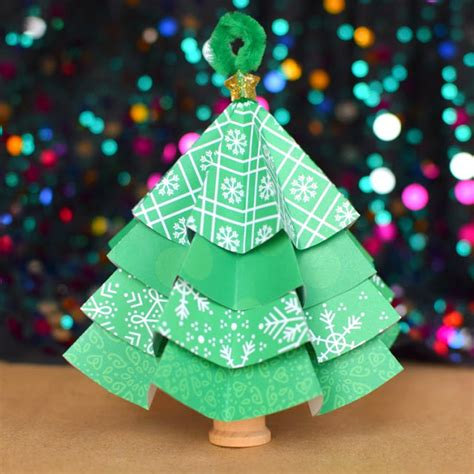 tree paper decorations folded paper tree ornaments what can we do