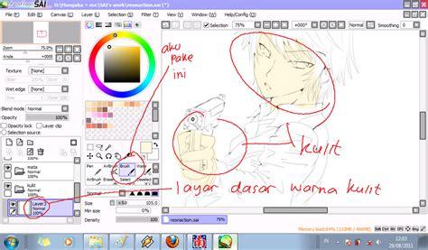 paint tool sai new layer shortcut カズロゼン tutorial paint tool sai mewarnai kulit dan mata