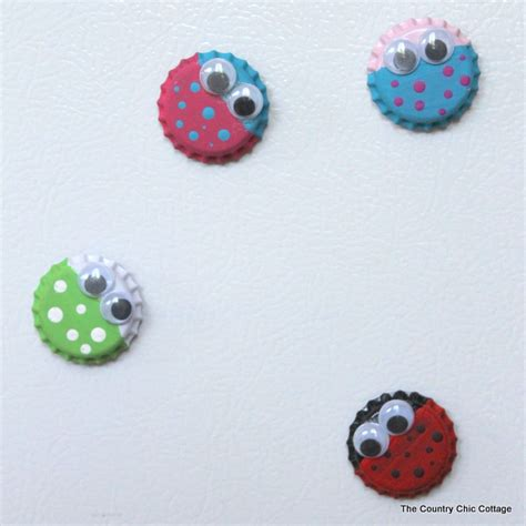 magnets for craft projects bottle cap magnets munchkins and