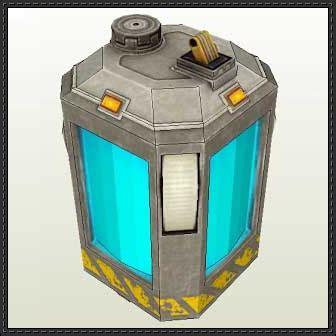 paper craft square new paper model black mesa battery free papercraft