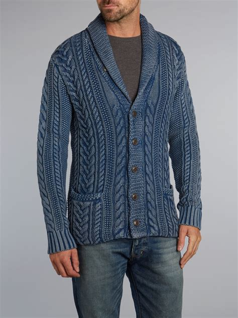 cable knit shawl denim supply ralph cable knit shawl cardigan in