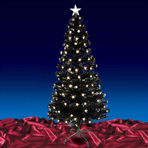 fiber optic tree 5ft black fibre optic tree with warm white led tree