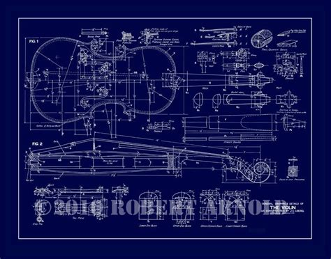 building blueprint maker blueprint of a 19th c violin maker s plans 11 x