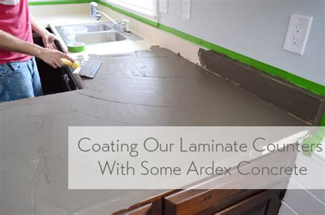 Laminate Kitchen Counters by Trying Our Hand At Diy Ardex Concrete Counters Young