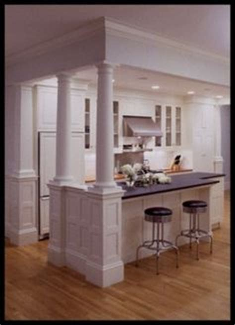 kitchen island with columns 1000 images about columns on half walls kitchen islands and column design