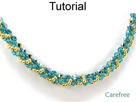bead necklace tutorial patterns jewelry tutorial pattern necklace simple bead