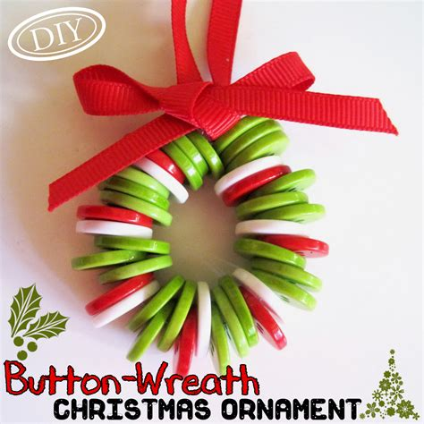 easy craft ornaments diy button wreath ornament top easy craft