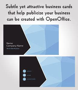 how to make business cards in openoffice 10 openoffice business card templates to for free