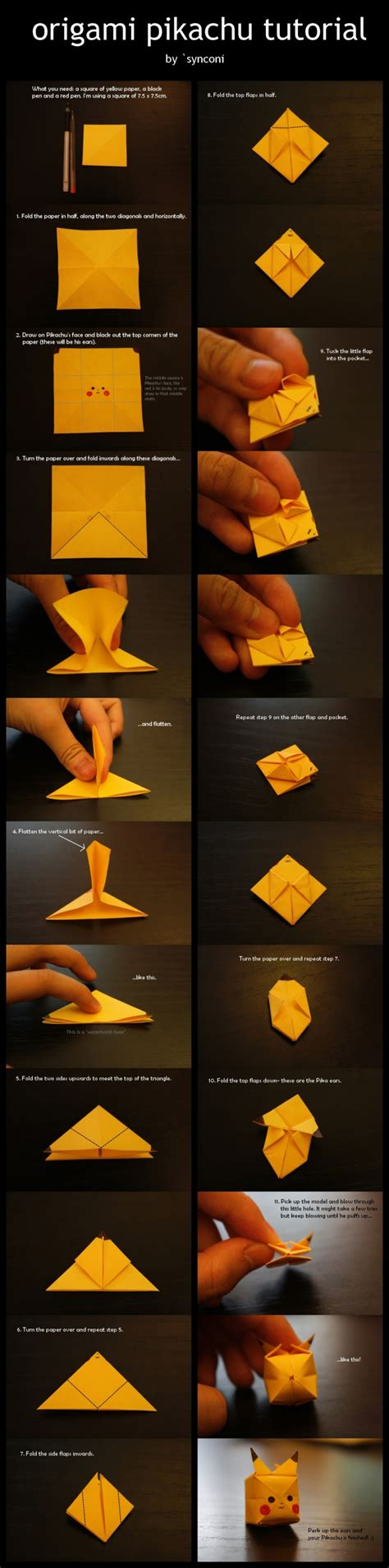 how to make an origami pikachu step by step how to make your own origami pikachu designtaxi