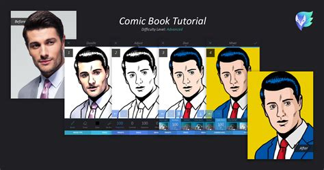 turn your picture into a comic book character comic book tutorial enlight leak