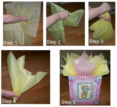how to pack gifts how to place tissue paper in a gift bag and make it look