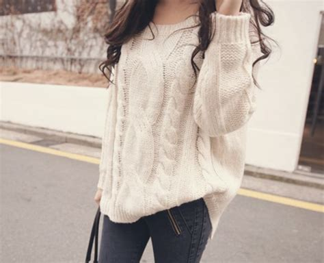 big knit jumpers sweater clothes big white knitted